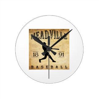 1891 Meadville New York Baseball Round Clocks