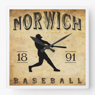 1891 Norwich Connecticut Baseball Clock