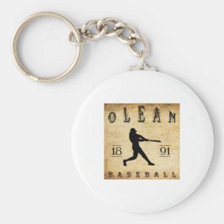 1891 Olean New York Baseball Basic Round Button Keychain