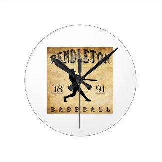 1891 Pendleton Oregon Baseball Wall Clocks