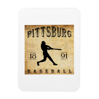 1891 Pittsburg Kansas Baseball Magnets