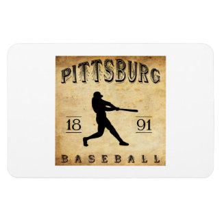 1891 Pittsburg Kansas Baseball Vinyl Magnet