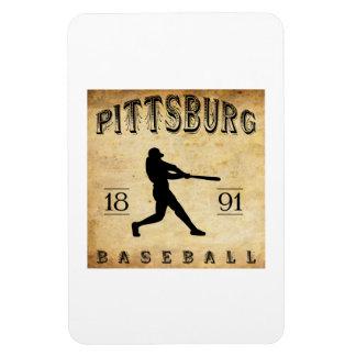 1891 Pittsburg Kansas Baseball Vinyl Magnets