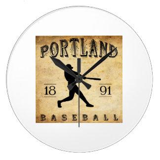 1891 Portland Connecticut Baseball Wall Clock