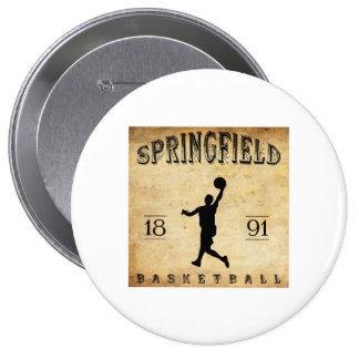 1891 Springfield Massachusetts Basketball Pinback Buttons