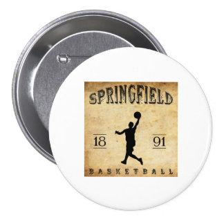 1891 Springfield Massachusetts Basketball Buttons