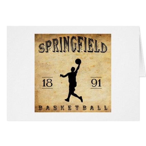 1891 Springfield Massachusetts Basketball Card