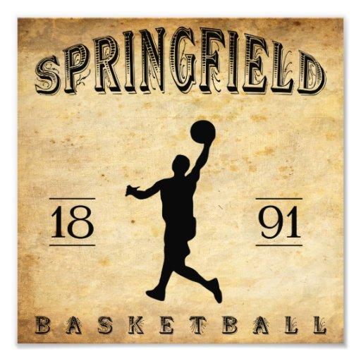 1891 Springfield Massachusetts Basketball Photo Print