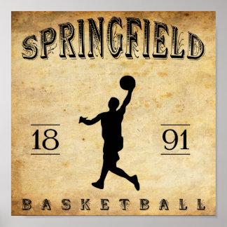 1891 Springfield Massachusetts Basketball Poster