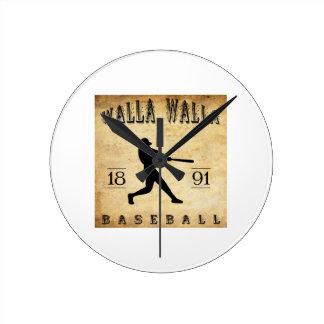 1891 Walla Walla Washington Baseball Round Wall Clock