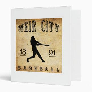 1891 Weir City Kansas Baseball Binder