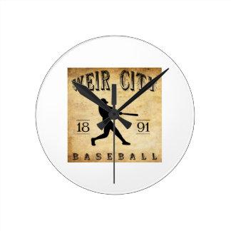 1891 Weir City Kansas Baseball Round Clocks