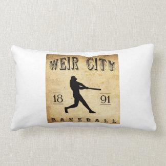 1891 Weir City Kansas Baseball Pillows