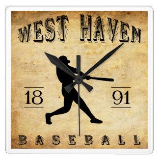 1891 West Haven Connecticut Baseball Wall Clock