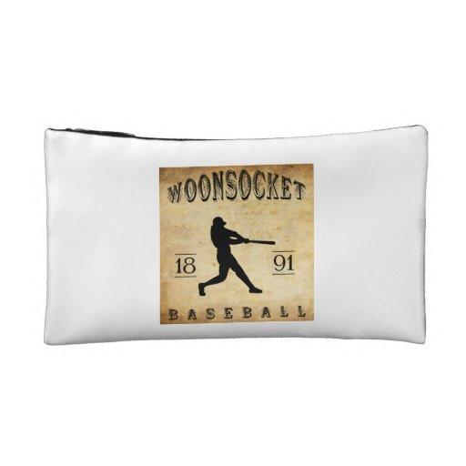 1891 Woonsocket Rhode Island Baseball Cosmetic Bags