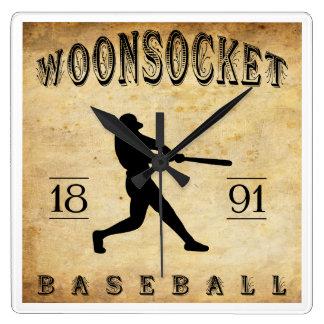 1891 Woonsocket Rhode Island Baseball Wallclock