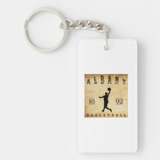 1892 Albany New York Basketball Double-Sided Rectangular Acrylic Keychain