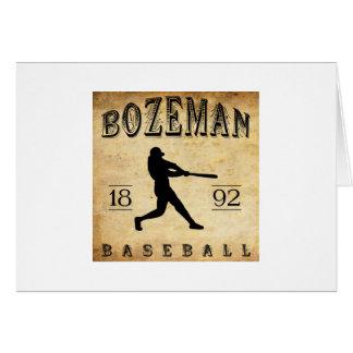 1892 Bozeman Montana Baseball Card