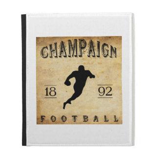 1892 Champaign Illinois Football iPad Folio Cover