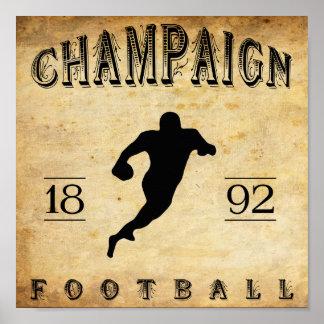 1892 Champaign Illinois Football Poster