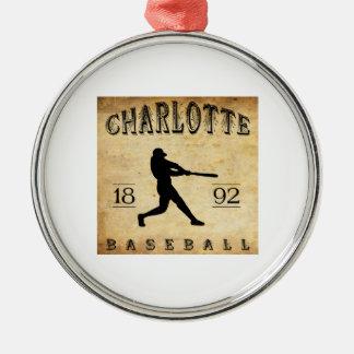 1892 Charlotte North Carolina Baseball Christmas Ornament