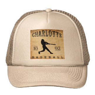 1892 Charlotte North Carolina Baseball Trucker Hat