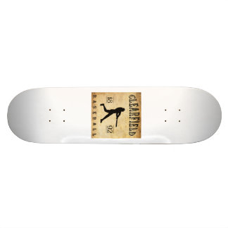 1892 Clearfield Pennsylvania Baseball Custom Skate Board