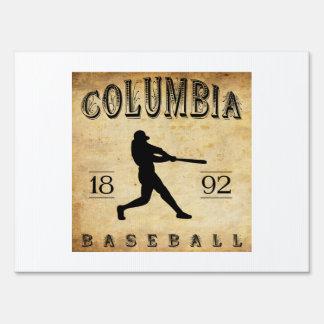 1892 Columbia South Carolina Baseball Lawn Signs