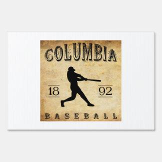 1892 Columbia South Carolina Baseball Sign