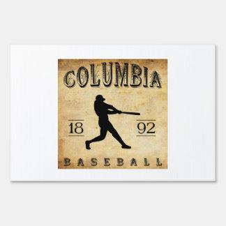 1892 Columbia South Carolina Baseball Signs