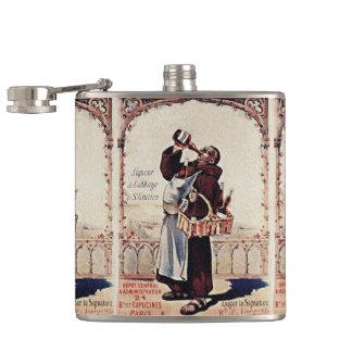 1892 Cute Monk  Liquor Hip Flask