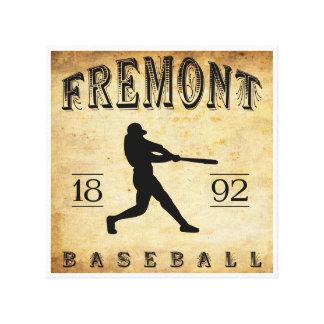1892 Fremont Nebraska Baseball Gallery Wrapped Canvas