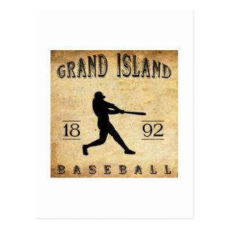1892 Grand Island Nebraska Baseball Postcard