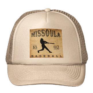 1892 Missoula Montana Baseball Trucker Hat