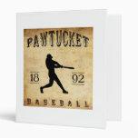 1892 Pawtucket Rhode Island Baseball Binders