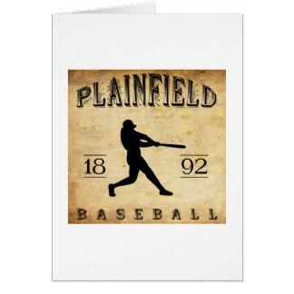 1892 Plainfield New Jersey Baseball Card