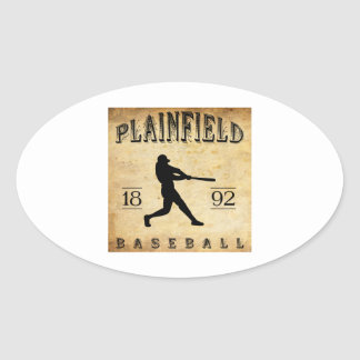 1892 Plainfield New Jersey Baseball Oval Sticker