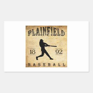 1892 Plainfield New Jersey Baseball Rectangular Sticker
