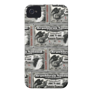 1892 Republican Convention Ticket iPhone 4 Cover