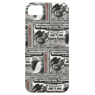 1892 Republican Convention Ticket iPhone SE/5/5s Case