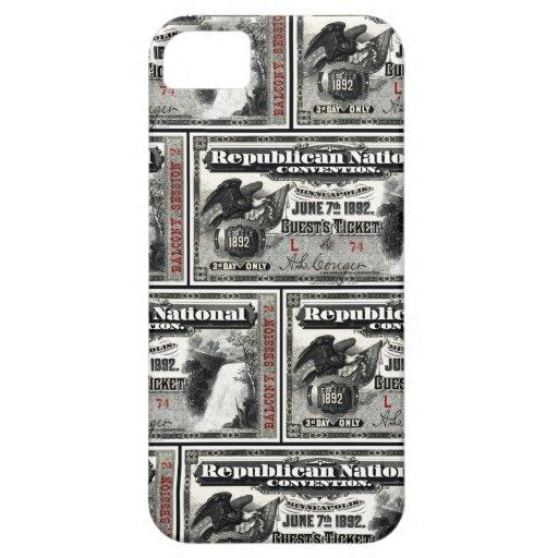1892 Republican Convention Ticket iPhone SE/5/5s Case