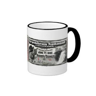 1892 Republican Convention Ticket Mugs