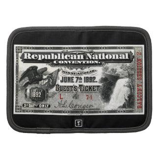 1892 Republican Convention Ticket Planner