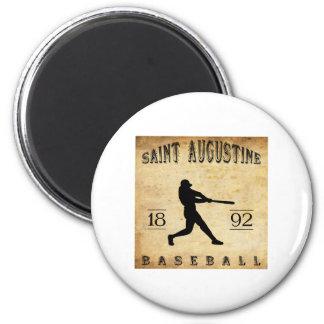 1892 Saint Augustine Florida Baseball 2 Inch Round Magnet
