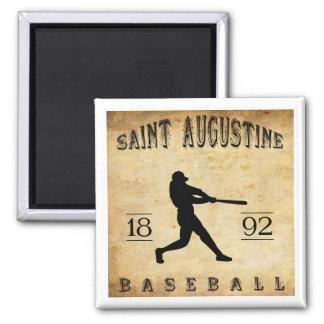 1892 Saint Augustine Florida Baseball 2 Inch Square Magnet