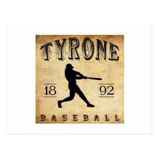 1892 Tyrone Pennsylvania Baseball Post Cards