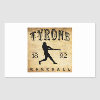 1892 Tyrone Pennsylvania Baseball Rectangular Sticker