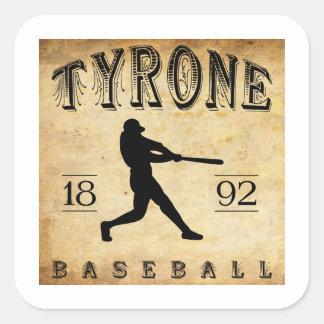 1892 Tyrone Pennsylvania Baseball Square Sticker