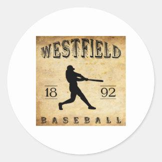 1892 Westfield New Jersey Baseball Classic Round Sticker