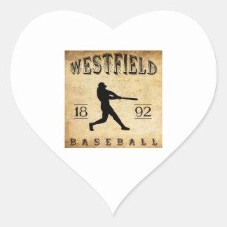 1892 Westfield New Jersey Baseball Heart Sticker